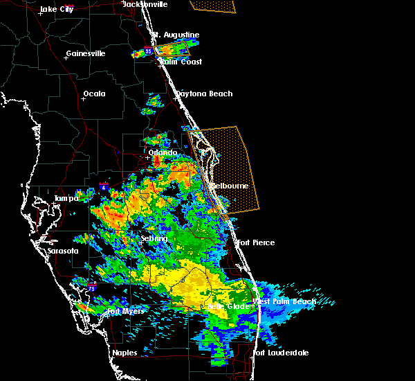 Radar Image for Severe Thunderstorms near Azalea Park, FL at 5/21/2020 7:17 PM EDT