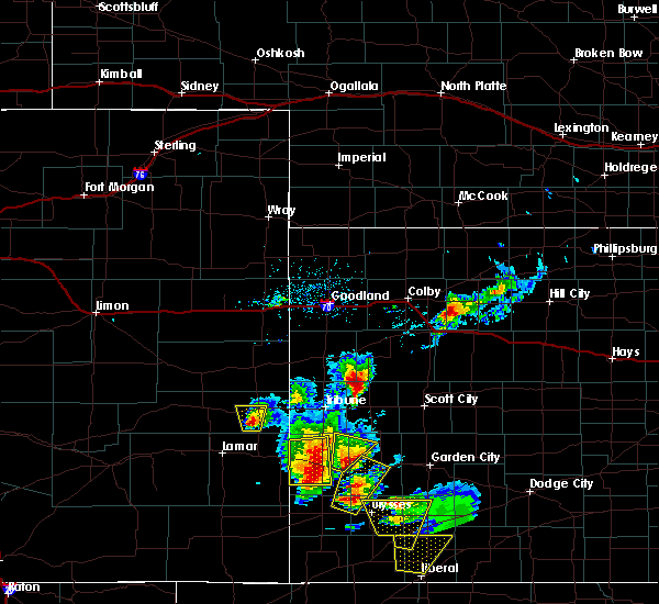 Radar Image for Severe Thunderstorms near Syracuse, KS at 5/21/2020 5:24 PM MDT