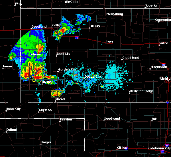 Radar Image for Severe Thunderstorms near Syracuse, KS at 5/21/2020 5:40 PM MDT