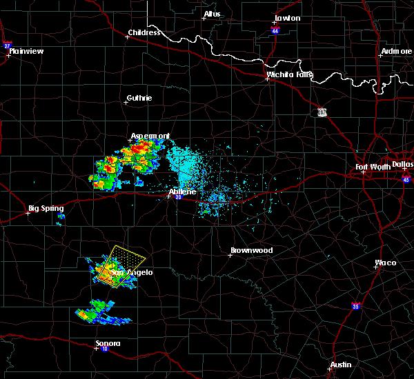 Radar Image for Severe Thunderstorms near Aspermont, TX at 5/21/2020 7:18 PM CDT