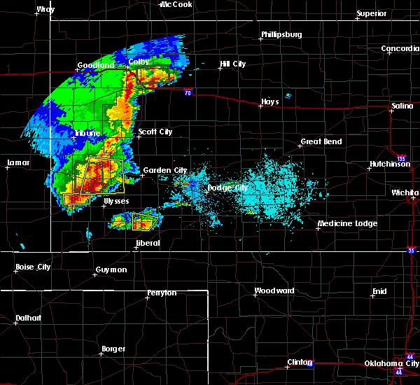 Radar Image for Severe Thunderstorms near Satanta, KS at 5/21/2020 7:31 PM CDT