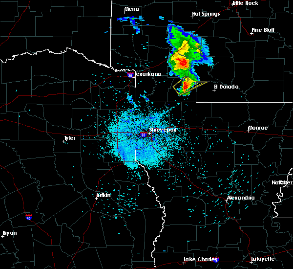 Radar Image for Severe Thunderstorms near Magnolia, AR at 5/21/2020 7:37 PM CDT