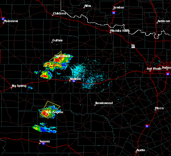 Radar Image for Severe Thunderstorms near Sweetwater, TX at 5/21/2020 7:41 PM CDT