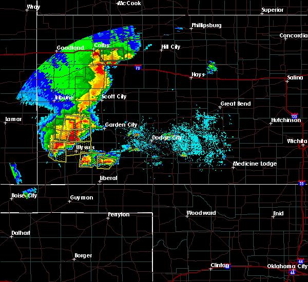 Radar Image for Severe Thunderstorms near Satanta, KS at 5/21/2020 7:49 PM CDT