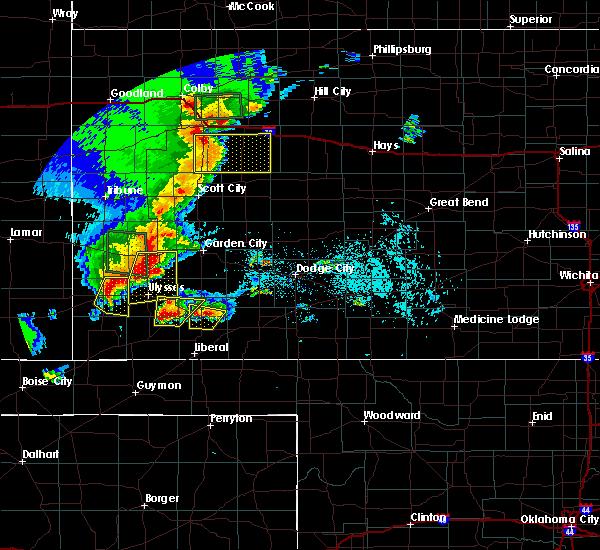 Radar Image for Severe Thunderstorms near Johnson City, KS at 5/21/2020 7:57 PM CDT