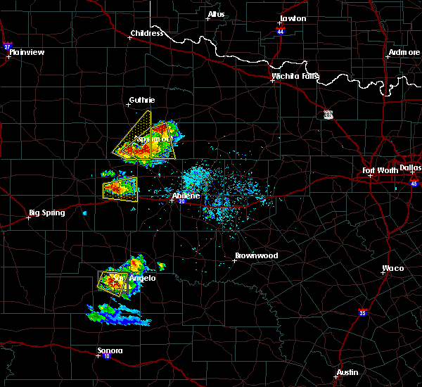 Radar Image for Severe Thunderstorms near Aspermont, TX at 5/21/2020 7:58 PM CDT