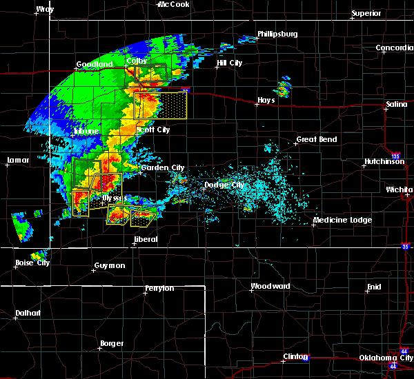 Radar Image for Severe Thunderstorms near Copeland, KS at 5/21/2020 8:02 PM CDT