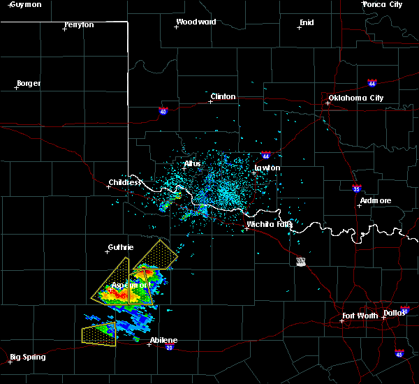 Radar Image for Severe Thunderstorms near Goree, TX at 5/21/2020 8:04 PM CDT