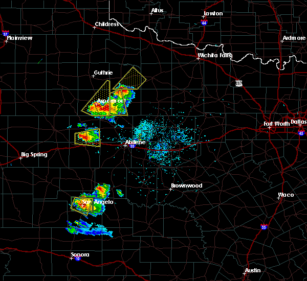 Radar Image for Severe Thunderstorms near Sweetwater, TX at 5/21/2020 8:08 PM CDT