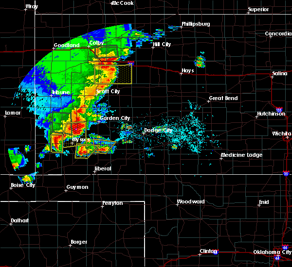 Radar Image for Severe Thunderstorms near Ulysses, KS at 5/21/2020 8:11 PM CDT