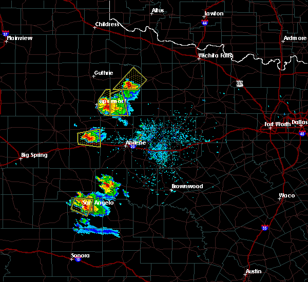Radar Image for Severe Thunderstorms near Rochester, TX at 5/21/2020 8:21 PM CDT