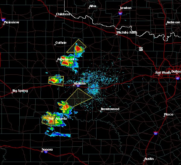 Radar Image for Severe Thunderstorms near Lawn, TX at 5/21/2020 8:37 PM CDT
