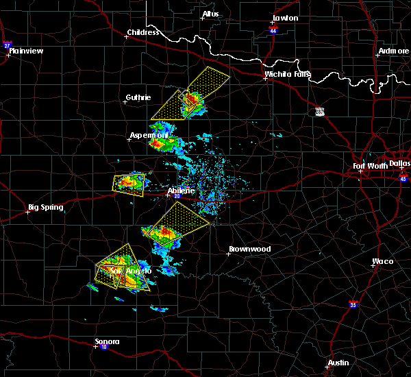 Radar Image for Severe Thunderstorms near Lawn, TX at 5/21/2020 8:50 PM CDT