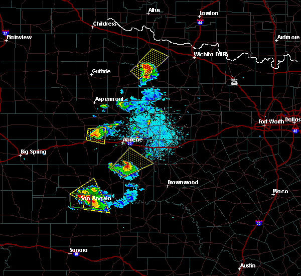 Radar Image for Severe Thunderstorms near Lawn, TX at 5/21/2020 9:03 PM CDT