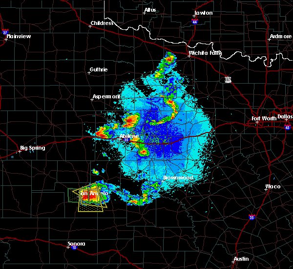 Radar Image for Severe Thunderstorms near Woodson, TX at 5/21/2020 9:52 PM CDT
