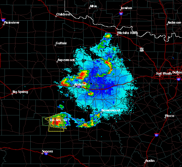 Radar Image for Severe Thunderstorms near Hawley, TX at 5/21/2020 9:55 PM CDT