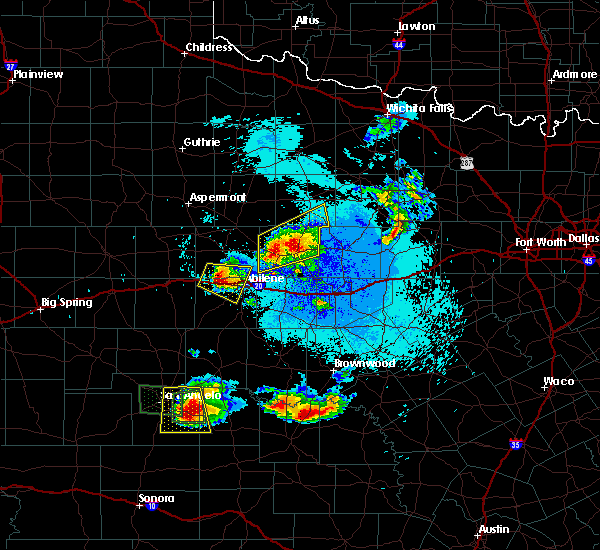 Radar Image for Severe Thunderstorms near Clyde, TX at 5/21/2020 10:36 PM CDT