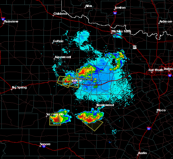 Radar Image for Severe Thunderstorms near Clyde, TX at 5/21/2020 10:44 PM CDT