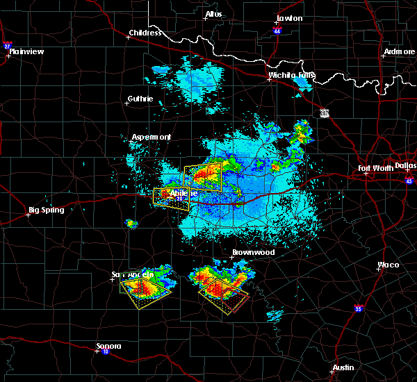 Radar Image for Severe Thunderstorms near Clyde, TX at 5/21/2020 11:03 PM CDT