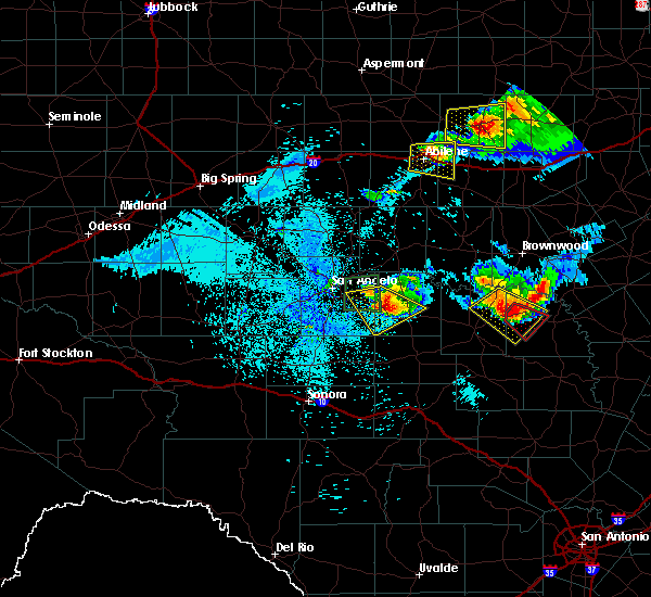 Radar Image for Severe Thunderstorms near Richland Springs, TX at 5/21/2020 11:09 PM CDT