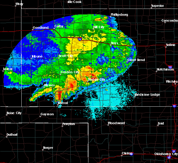 Radar Image for Severe Thunderstorms near Satanta, KS at 5/21/2020 11:13 PM CDT