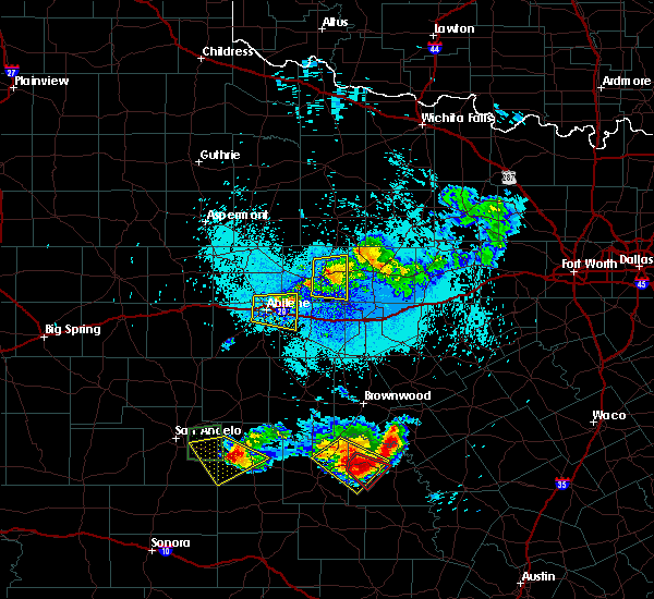 Radar Image for Severe Thunderstorms near Richland Springs, TX at 5/21/2020 11:30 PM CDT