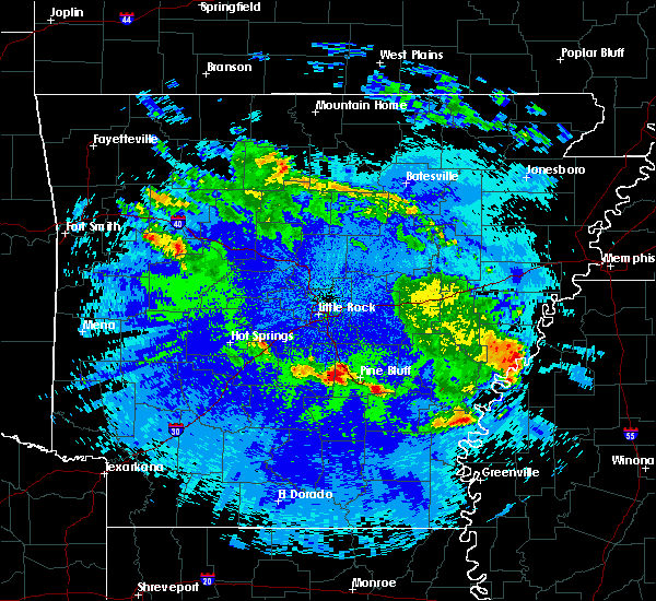 Radar Image for Severe Thunderstorms near White Hall, AR at 5/22/2020 12:19 AM CDT
