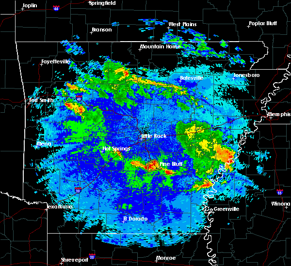 Radar Image for Severe Thunderstorms near White Hall, AR at 5/22/2020 12:30 AM CDT