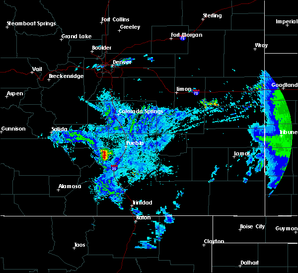 Radar Image for Severe Thunderstorms near Beulah Valley, CO at 5/21/2020 11:43 PM MDT
