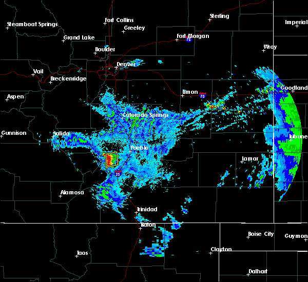 Radar Image for Severe Thunderstorms near Beulah Valley, CO at 5/21/2020 11:54 PM MDT