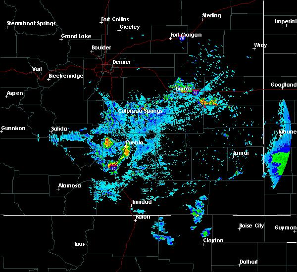 Radar Image for Severe Thunderstorms near Colorado City, CO at 5/22/2020 1:09 AM MDT