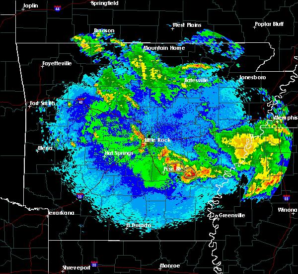 Radar Image for Severe Thunderstorms near Wabbaseka, AR at 5/22/2020 2:11 AM CDT