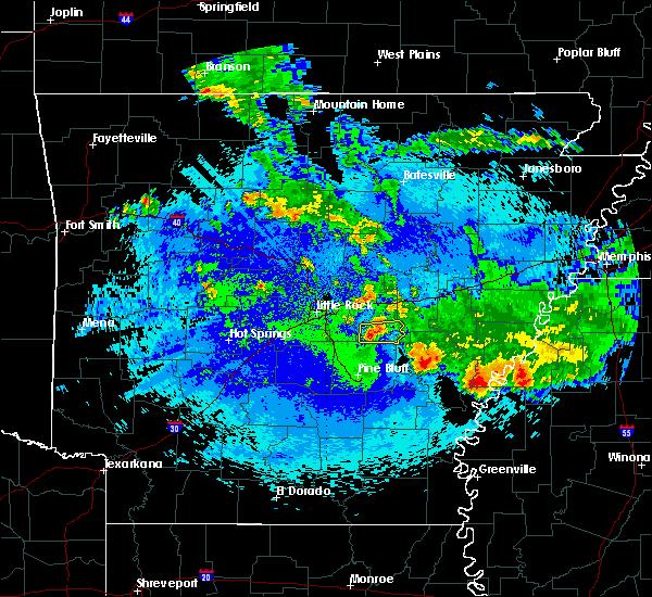 Radar Image for Severe Thunderstorms near Keo, AR at 5/22/2020 3:21 AM CDT