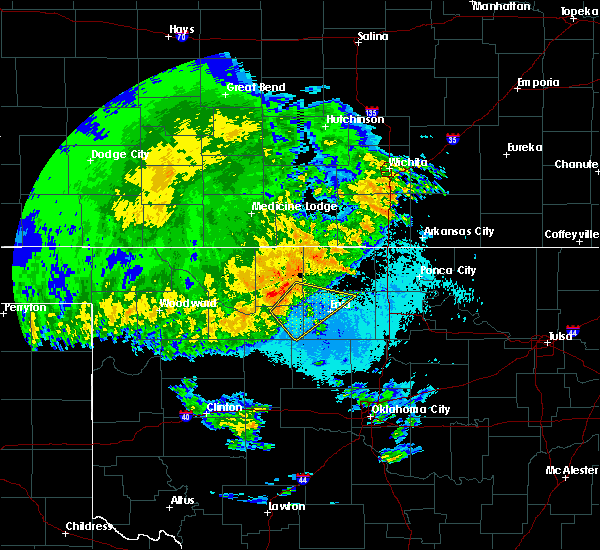 Radar Image for Severe Thunderstorms near Medford, OK at 5/22/2020 3:22 AM CDT
