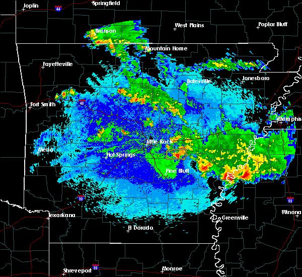 Radar Image for Severe Thunderstorms near Humnoke, AR at 5/22/2020 3:38 AM CDT