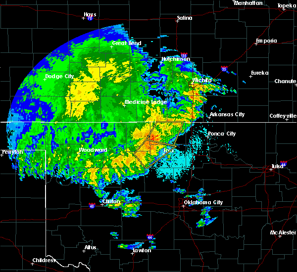 Radar Image for Severe Thunderstorms near Fairmont, OK at 5/22/2020 3:43 AM CDT