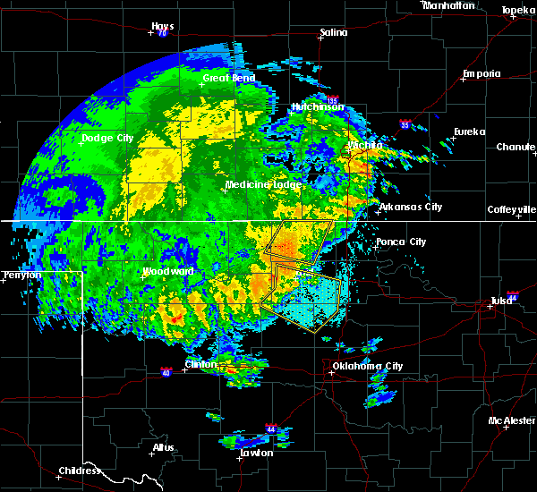 Radar Image for Severe Thunderstorms near Fairmont, OK at 5/22/2020 3:56 AM CDT