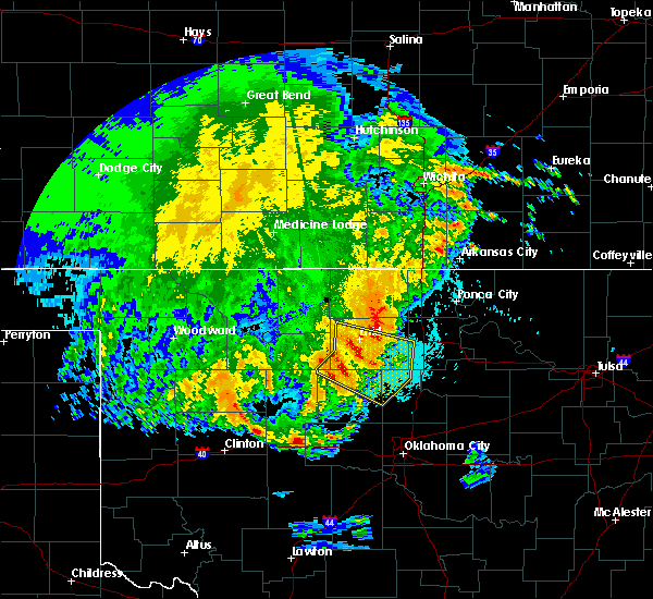 Radar Image for Severe Thunderstorms near Morrison, OK at 5/22/2020 4:27 AM CDT