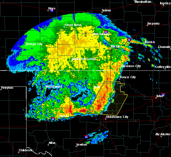 Radar Image for Severe Thunderstorms near Fairmont, OK at 5/22/2020 4:46 AM CDT