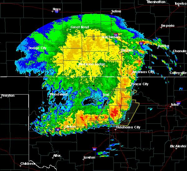 Radar Image for Severe Thunderstorms near Fairfax, OK at 5/22/2020 5:06 AM CDT