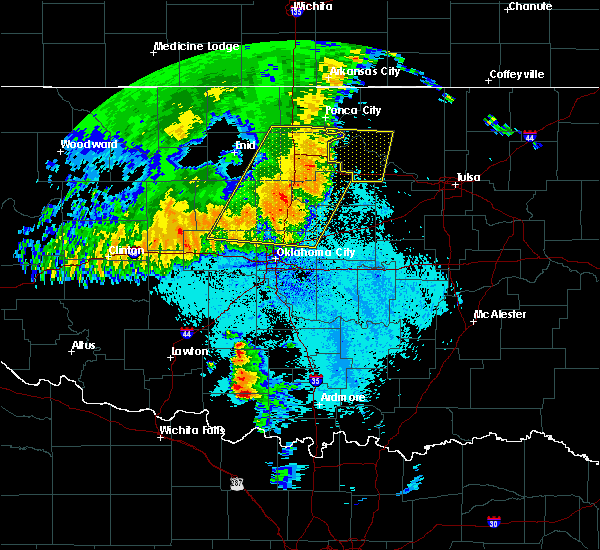 Radar Image for Severe Thunderstorms near Meeker, OK at 5/22/2020 5:10 AM CDT