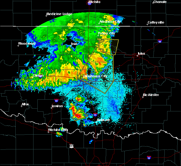 Radar Image for Severe Thunderstorms near Mannford, OK at 5/22/2020 5:38 AM CDT