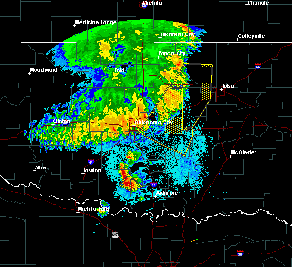 Radar Image for Severe Thunderstorms near Mannford, OK at 5/22/2020 5:49 AM CDT