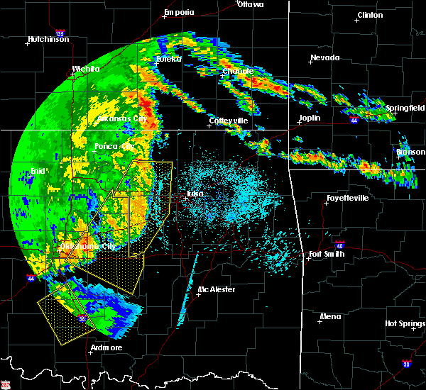 Radar Image for Severe Thunderstorms near Oakhurst, OK at 5/22/2020 6:12 AM CDT