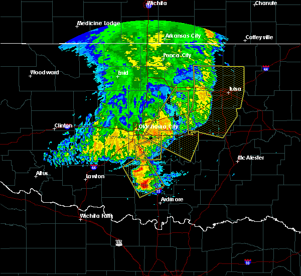 Radar Image for Severe Thunderstorms near Wetumka, OK at 5/22/2020 6:27 AM CDT