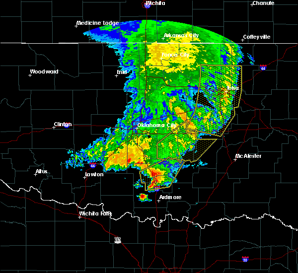 Radar Image for Severe Thunderstorms near Wetumka, OK at 5/22/2020 7:09 AM CDT