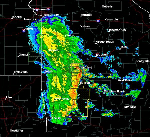 Radar Image for Severe Thunderstorms near Kimberling City, MO at 5/22/2020 11:08 AM CDT
