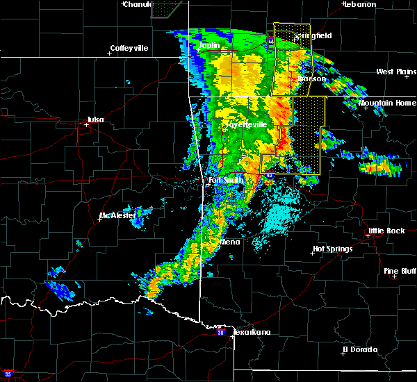Radar Image for Severe Thunderstorms near Norman, AR at 5/22/2020 11:10 AM CDT