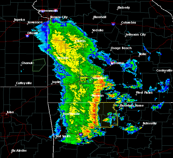 Radar Image for Severe Thunderstorms near Pindall, AR at 5/22/2020 11:32 AM CDT