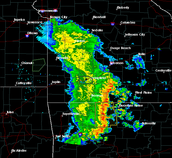 Radar Image for Severe Thunderstorms near Pindall, AR at 5/22/2020 11:59 AM CDT